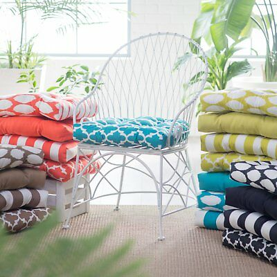 Outdoor Tufted Patio Chair Seat Cushion 20L x 19.5W x 3H Solids, Prints, Stripes