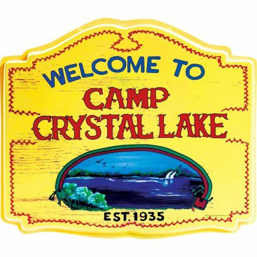 HALLOWEEN CAMP CRYSTAL LAKE JASON FRIDAY 13TH  SIGN  PROP DECORATION