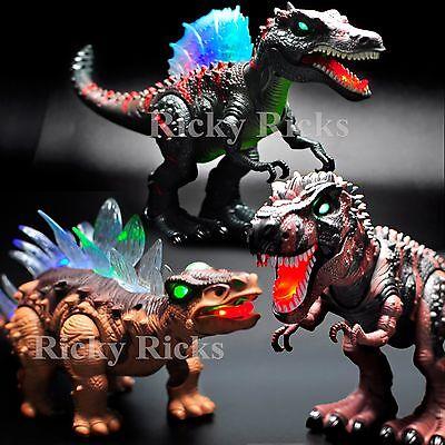 Light Up Toys (Walking Dinosaur Light-Up Toy T-Rex Spinosaurus LED Roaring Sound)