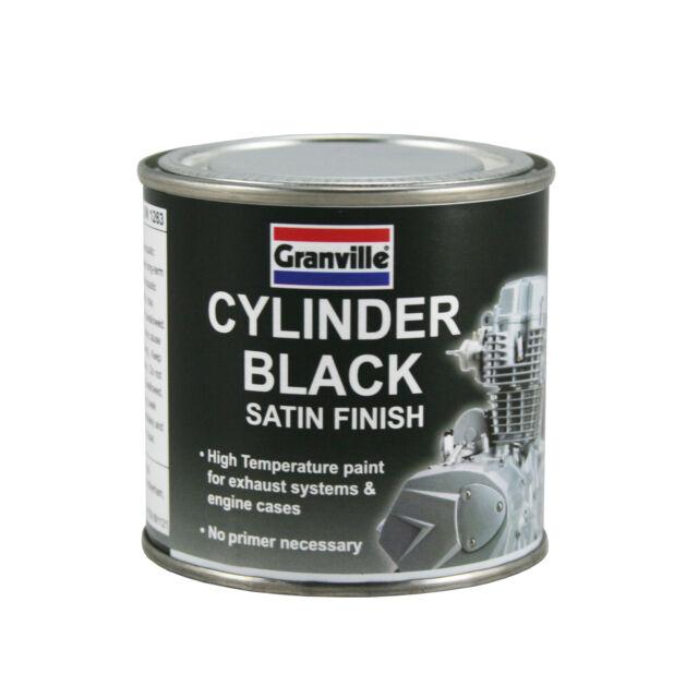 Granville Cylinder Black Heat Resistant High Temp Exhaust Engine Paint 100ml