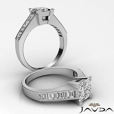 Channel Set Princess Diamond Gorgeous Engagement Ring GIA G VS2 Platinum 1.85 ct