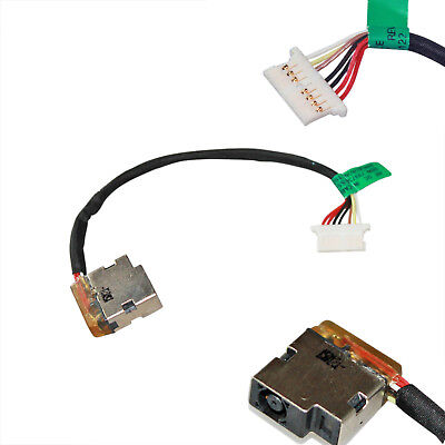 DC POWER JACK HARNESS CABLE HP 799736-Y57 799736-S57 15-AC163NR 15-AC -