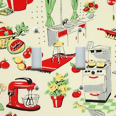 Light Switch Plate Cover VINTAGE HOME DECOR ~ RETRO KITCHEN FIFTIES DINER 50s