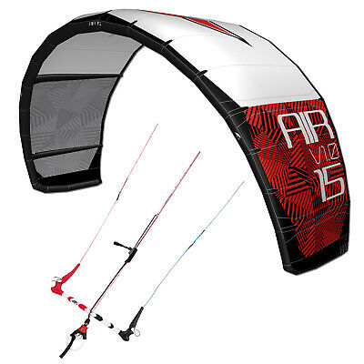 F2 BIG AIR V1.0 ~ 9 QM FREESTYLE WAVE NEW SCHOOL KITE + 4 LEINER BAR + BAG gebraucht kaufen  Deutschland