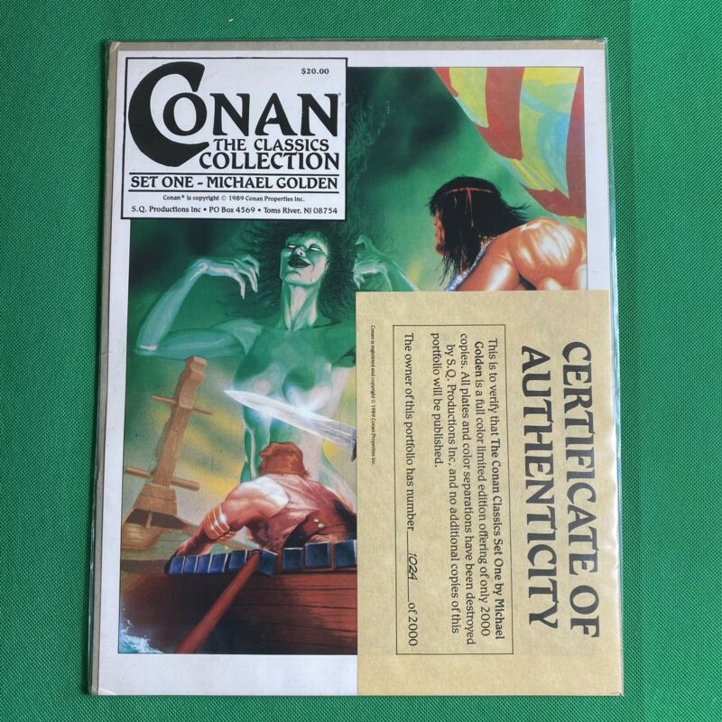 Conan The Classics Collection Set One MICHAEL GOLDEN 1989 Limited Ed. COA