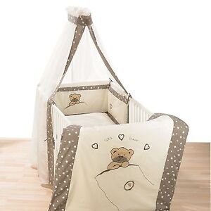 Alvi Himmelset/Bettset mit Applikation Little Bear beige 562-6  NEU