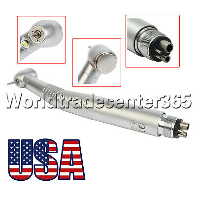 Dental E-generator Led Fiber Optic High Speed Handpiece 4 Hole Turbine Fit Kavo
