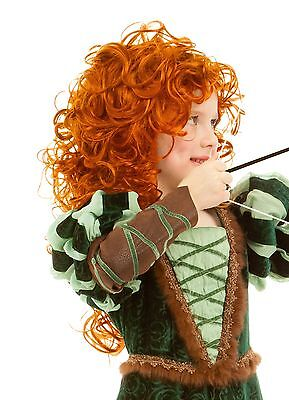 Child WIG for Forest Princess Costume Auburn Red Brave Merida 3 4 5 6 7 8 9 - Woodland Princess Costume