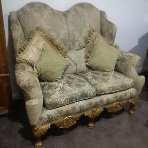 Stylish Lounge/Sofa, Camel Back, 2 Seat, Early 1900's, Orig Cond Pitt Town Hawkesbury Area Preview