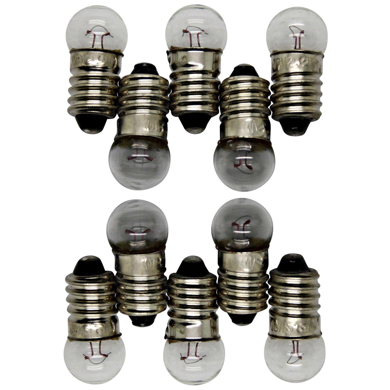 E10 Halogen Bulb Lamp Screw Socket Bulb Flashlight Bulb 12 V