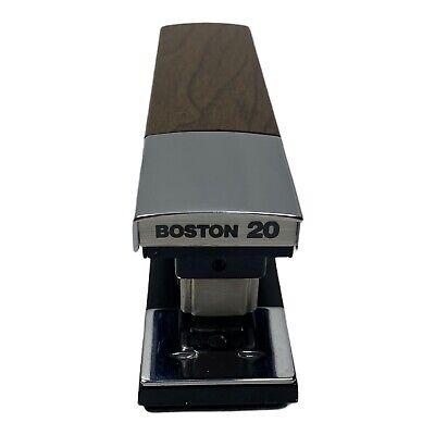 Vintage Boston 20 Stapler Mid Century Faux Wood Grain Tested