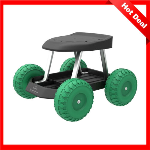 Rolling Garden Tool Tray Chair Cart Scooter Stool Wheeled Work Painting