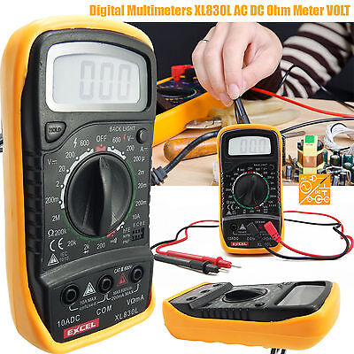 New Digital Multimeter XL830L AC DC OHM Meter Voltage Tester Circuit Checker UK