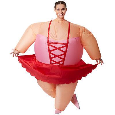 Selbstaufblasbares Unisex Kostüm Ballerina aufblasbar BlowUp Fasching (Ballerinas Kostüme)