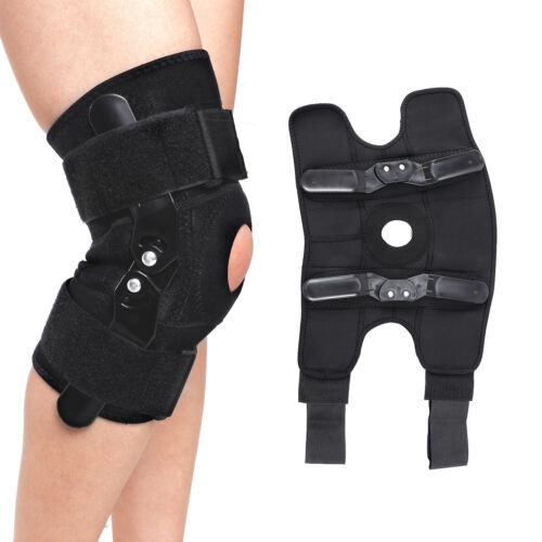 Hinged Knee Arthritis Support Brace Guard Stabilizer Strap W
