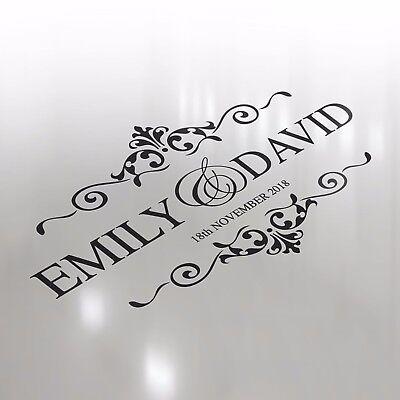 Premium Luxury Wedding Logo Dance Floor Event Custom Decor Sticker Vinyl Decal