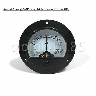Us Stock Dc -10a 10a Analog Amp Current Pointer Needle Panel Meter Ammeter