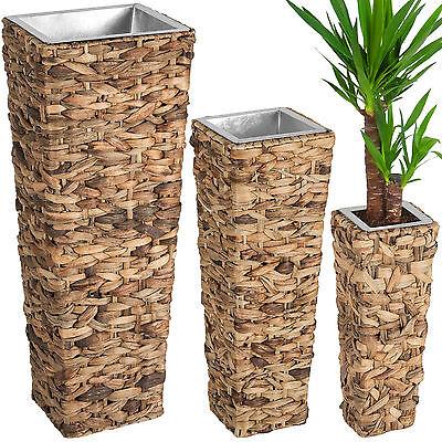 3er Set Blumentopf Wasserhyazinthe Blumenkübel Pflanzkübel Pflanzenkübel braun