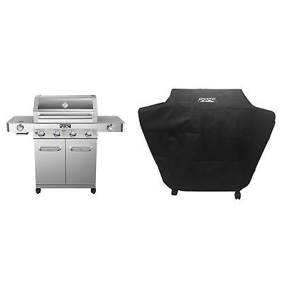 Monument Grills Stainless Steel 4-Burner Propane Gas Grill +