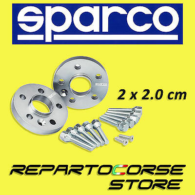 SPARCO WHEEL SPACERS KIT - 2 x 20mm - WITH BOLTS - FIAT BRAVO 198 - 4x98 - 58 CB