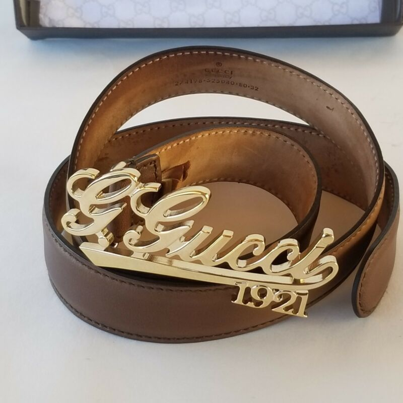 Gucci script Belt