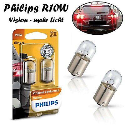 2x Philips Vision R10W 12V BA15s 12814B2 Lizenz Türlicht Leselicht Blinker Birne