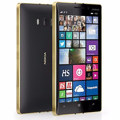 NOKIA LUMIA 930 32GB Hateful-Gold Unlocked 20mp Camera Dolby Digital Smartphone
