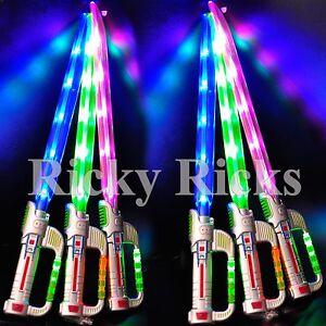 Light-Up Ninja Sword w/ Sound Flashing LED Toy Stick Lightsaber Fx Glow Costume