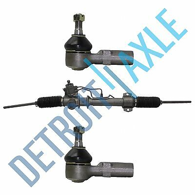 Complete Power Steering Rack and Pinion Assembly +2 NEW Front Outer Tie Rod Ends