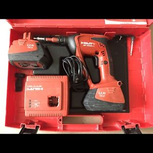 Hilti Drywall Scree Gun with Two batteries and Case