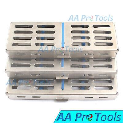 Autoclave Sterilization Cassette Box Rack Tray 5 7 10 Slot Dental Instruments