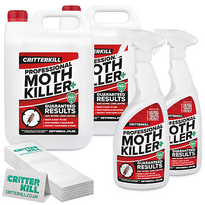 Carpet Moth Clothes Beetle Killer Spray Fumer – PRO-Treatment KIT CRITTERKILL