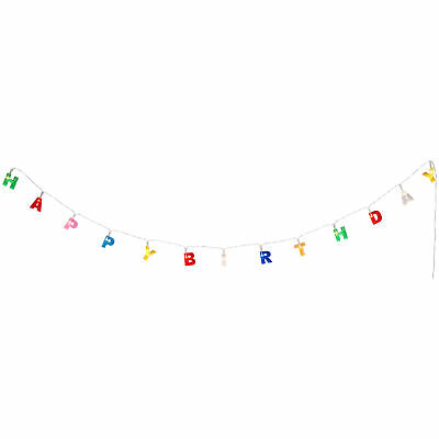 Happy Birthday String Light LED Battery Powered Portable Party Decoration Banner Home & Garden