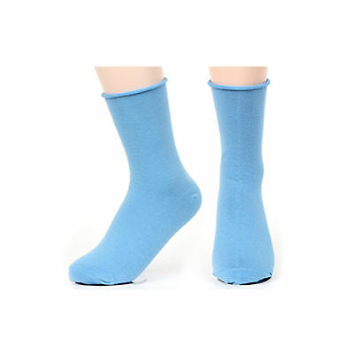 New Korea Fashion Roll Top Solid Color Ankle Socks Cotton Casual Socks Dark Sky