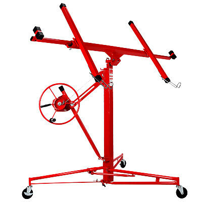 New 11 Drywall Lifter Panel Hoist Jack Rolling Caster Construction Lockable Red