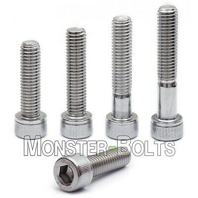 M8 Stainless Steel Socket Head Cap Screws A2 18-8 Metric Din 912 1.25 Coarse