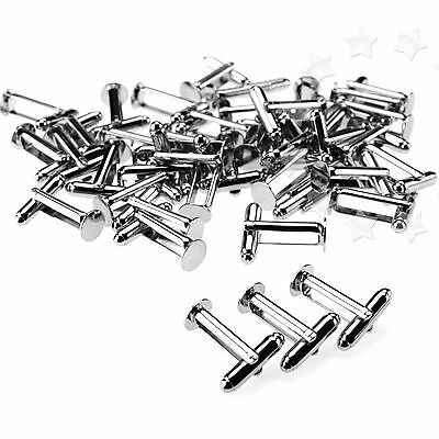 50x SILVER Color Plated Flat round Cufflink Findings Cuff Link Blank