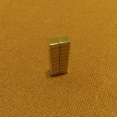 20 Neodymium 14 X 14 X 116 Inches Blockbar Magnet.