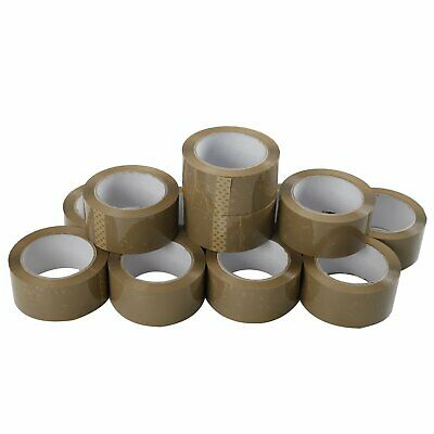36 Rolls Premium Brown Carton Box Sealing Packing Tape 2.5 Mil Thick 2