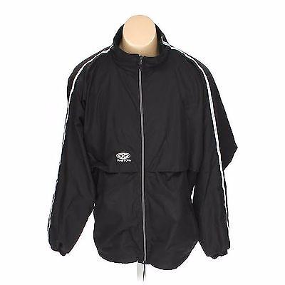Easton Vent - Easton Mens Black 100% Polyester Full Zip Lined Vented Windbreaker Jacket XL