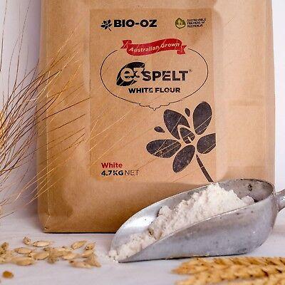 Bio-Oz e3 Spelt WHITE Flour 4.7kg Australian Grown