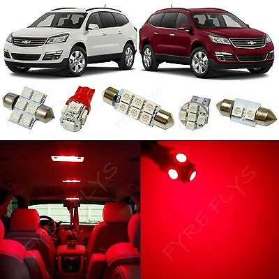 15x Red LED lights interior package kit for 2010-2013 Chevrolet Traverse CT2R