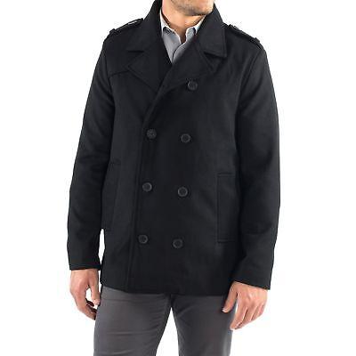 - Alpine Swiss Jake Mens Pea Coat Wool Blend Double Breasted Dress Jacket Peacoat