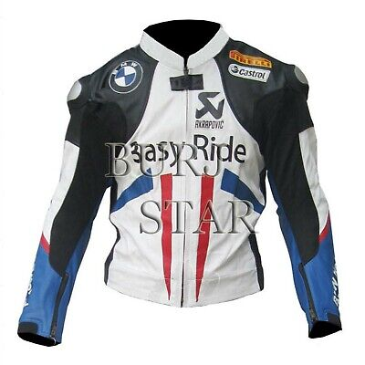 BMW Motorbike Motorcycle Racing Leather Jacket for sale  Shipping to India