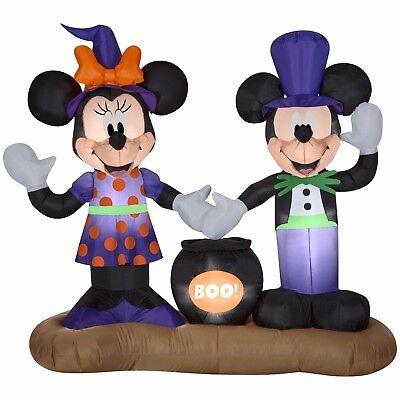 Airblown Inflatable Mickey Minnie Cauldron Scene Gemmy Disney Halloween Decor (Disney Halloween Inflatable Yard Decorations)