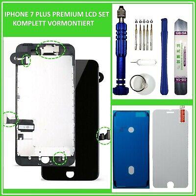 """LCD Display für iPhone 7 PLUS 7+ RETINA 5,5"""" KOMPLETT VORMONTIERT SCHWARZ BLACK"""