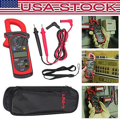 Uni-t Ut202a Digital Lcd Multimeter 600a Ac Dc Volt Meter Handheld Clamp Tester