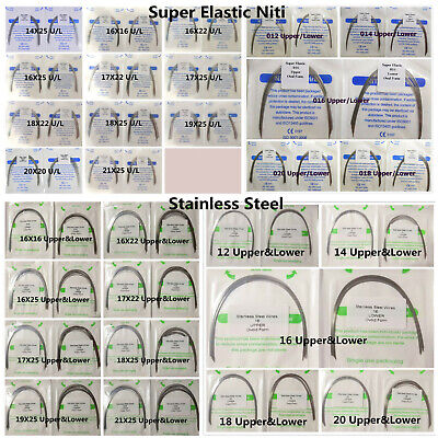 100pc Dental Orthodontic Arch Wire Rectangular Round Stainless Steel Niti Ovoid