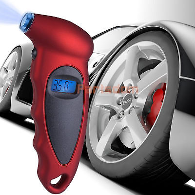 LCD Digital Tire Tyre Air Pressure Gauge Tester Tool For Car Auto Motorcycle 150