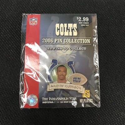 Marvin Harrison 2006 Collectors Pin From The Indystar   New Sealed   Ships Free
